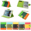 Hybrid PU Leather Wallet Flip Pouch Stand Case For iPad mini Mini 2