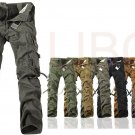 Mens Cargo Pants Multi Pockets Casual Cotton Pants Work Overalls