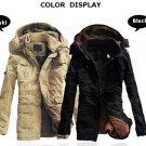 Men Outdoor Coat Thicken Cotton-Padded Hoodie Jacket