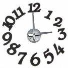 DIY Modern Design Self Digit Dot Adhesive Wall Clock