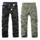 Multi Pockets Pants Cotton Casual Cargo Pants