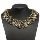 Vintage Crystal Rhinestone Statement Necklace Chunky Collar Choker