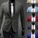 Men Casual Slim Fit One Botton Suits Blazers