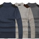 Thick Sweaters Casual Knitting Splicing Shoulder Pullovers