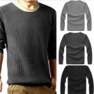 Mens Slim Sweater Casual Knit Pullover Long-sleeve Sweater
