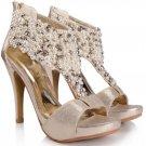 Pearl Peep-toe Thin Teels Sandals