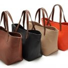 Women Big Casual Shoulder Bags PU Leather Shopping Totes