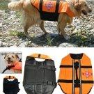 Orange Light Weight Pet Dog Life Jacket Swimming Safety Vest