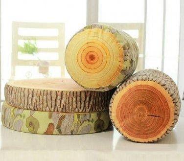 B & C Log Wood Pillow Sycamore Home Office Car Soft Cushion