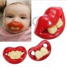 Baby funny Gagtooth Lip Pacifiers Dummy Teether Nipple