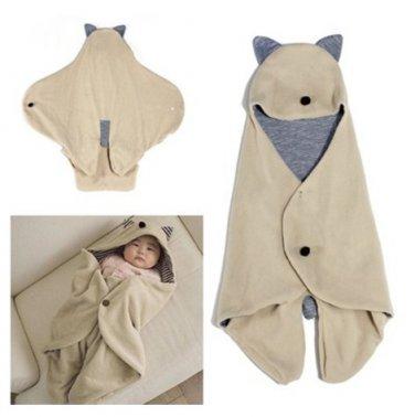 Infant Baby Swaddle Warm Blanket Hooded Sleeping Bag Wrap
