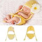 Baby Infant Chrysanthemum Crochet Costume Photography Prop Clothes