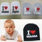Baby Children Sweet Cotton Beanie I Love Mama Papa Hat