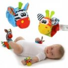 Baby Infant Rattle Cartoon Plush Toys Garden Bug Baby Wrist Rattle
