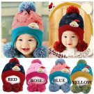 Baby Children Christmas Knitted Hat Printed Moon Star Dot Cap