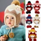 Baby Kids Warm Cap Knitted Woolen Beanie Hats Ball Accessories