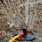 360 Degree Rotating Circular 3-Arm Multihole Lawn Sprinkler Watering