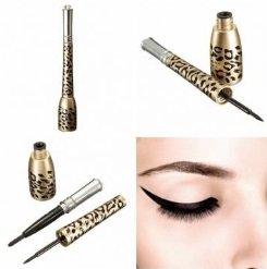 Dual-Purpose Leopard Eyeliner Cosmetic Waterproof Liquid Eye Liner Pen