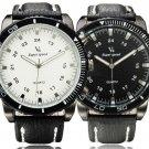 Super Speed Big Dial PU Band Quartz Watch