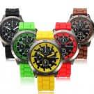 Silicone Band Big Dial 5 Colors Quartz Watch