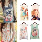 Sweet Women Girls Chiffon Sleeveless Shirt