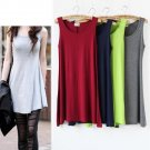 Woman Candy Color Modal Long Loose Top
