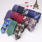 Men Tie Vintage British Style Polyester Silk Businessman Accessories