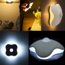 Mini LED Night Light Four-Leaf Clover Auto Motion Sensor Lamp Battery Powered