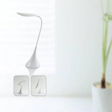 LED Swan Shape Touch Rechargable Table Desk Lamp Reading Night Light For Laptop