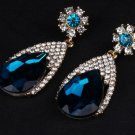 Luxury Water Drop Rhinestone Dangle Earrings For Women