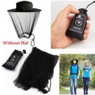 Mosquito Net Head Face Protector Bee Bug Mesh Insect Mozzie Fishing Fly Black