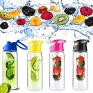 800ML Sports Bicycle Water Cup Health Fruit Infusing Infuser Lemon Juice Lid Water Bottle