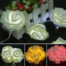 20 LED Romantic Rose Flower Fairy String Light For Wedding Party