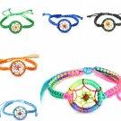 Colorful Leather Indian Dream Catcher Bracelet Adjustable