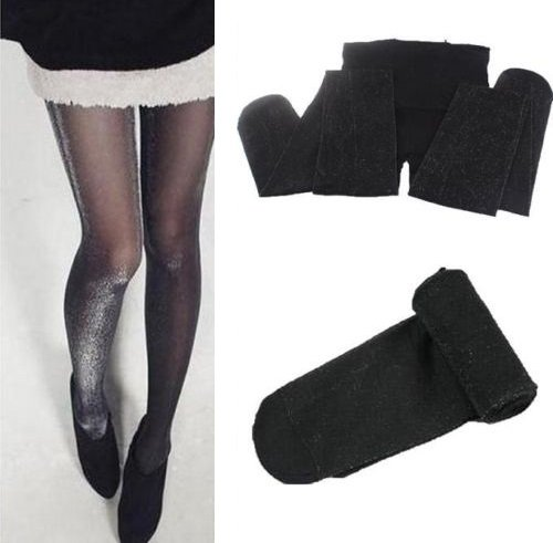 Black Women Elastic Transparen�t Tights Pants Stocking