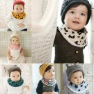 Toddler Newborn Baby Infant Cotton Bib Lunch Waterproof Saliva Towel Scarf