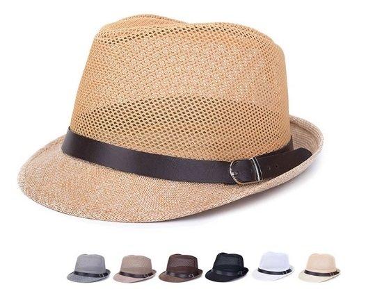 Braid Fedora Trilby Gangster Cap Beach Sun Flax Panama Hat