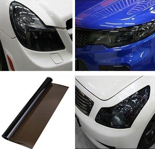 DIY Tint Auto Car Headlight Tail Fog Light Lamp Vinyl Film Sheet Cover