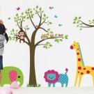 Removable Vinyl Animal Monkey Giraffe Jungle Wall Sticker Decal Paper Decor
