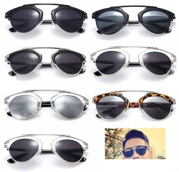 Vintage Christian Designer Fashion Retro Sunglasses