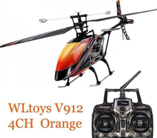 V912 Sky Dancer 4CH RC Helicopter With Gyro RTF Orange