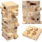 48PCS Wooden Column Creative Building Blocks Game Children Education Toy