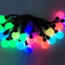 5m 20 LED Ball String Lamps Black Wire For Christmas Lighting Wedding Party