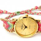 Women Ethnic Knitted Chain Bracelet Quartz Watch