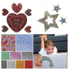 1558pcs 36 X8.5cm Bling Crystals Rhinestones Stickers For Motor Car Mobile PC Decoration