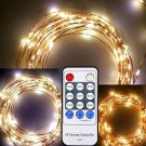 6M 120 LED Copper Wire Strings Party Light With Remote Control for Christmas Decoration