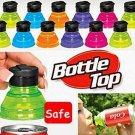6Pcs Creative Soda Savers Toppers Reusable Bottle Caps Can Convert