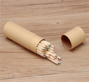 Natural 36 Colors Wooden Craft Paper Cartridge Colored Pencils Drawing Pencils
