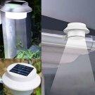 Garden 3 LED Solar Power Fence Gutter Light Super Bright Outdoor Yard Aisle Panel Lamp
