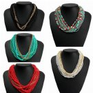Bohemian Bib Multilayer Beads Statement Choker Necklace Women Jewelry